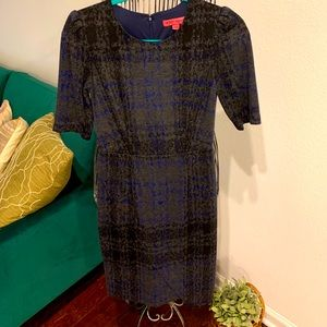 Blue/black plaid dress by Betsey Johnson